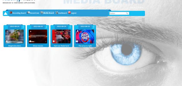 Mediaboard broadcast recording