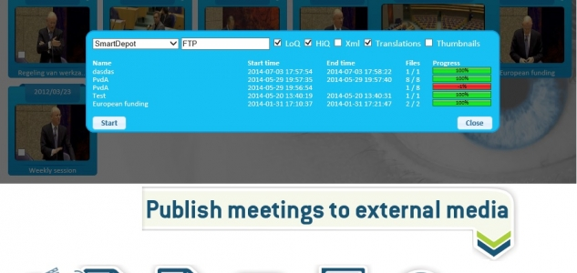 Publish meetings to external media